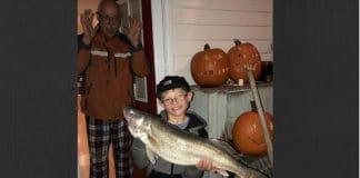 big catch, first catch, walleye, fishing